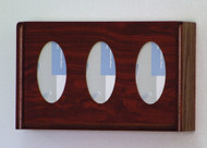 Wooden Mallet GBW11-3 Glove or Tissue Box Holder 3 Pocket Oval