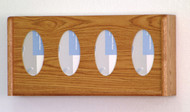 Wooden Mallet GBW11-4 Glove or Tissue Box Holder 4 Pocket Oval