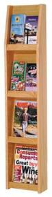 Wooden Mallet LD49-8 Literature Display 8 Pocket