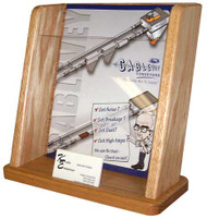 Wooden Mallet LHT1 Literature Display with Business Card Holder Countertop Rack