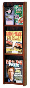 Wooden Mallet LM-4 Divulge Wall Mounted Literature Display 3 Pocket