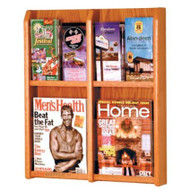 Wooden Mallet LM-6 Divulge Wall Mounted Literature Display 4 Pocket