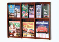 Wooden Mallet LM-9 Divulge Wall Mounted Literature Display 6 Pocket