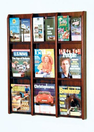 Wooden Mallet LM-12 Divulge Wall Mounted Literature Display 9 Pocket