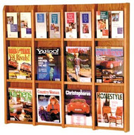 Wooden Mallet LM-16 Divulge Wall Mounted Literature Display 12 Pocket