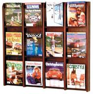Wooden Mallet MM-12 Divulge Magazine Wall Display 12 Pocket