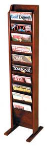 Wooden Mallet MR10-FS Cascade Free Standing Magazine Rack 10 Pocket