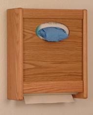 Wooden Mallet WCX1 Combo Towel Dispenser and Glove Tissue Holder