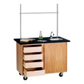 Diversified 4222K Mobile Demonstration Table with Drawers