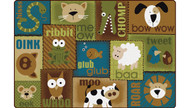 Carpets for Kids 18724 Animal Sounds Toddler Rug  Nature 4 x 6