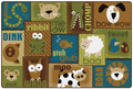 Carpets for Kids 18726 Animal Sounds Toddler Rug  Nature 6 x 9