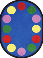Joy Carpets 1430-CC Lots of Dots Rug 5 ft 4 in x 7 ft 8 in Oval 12 Dots