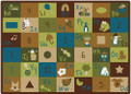 Carpets for Kids 37701 Learning Blocks - Nature 4 x 5
