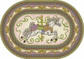 Joy Carpets 1473-BB Carousel Horse Rug