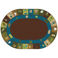 Carpets for Kids 37708 Learning Blocks Oval - Nature 8 x 11