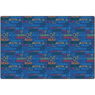 Carpets for Kids 2318 Read to Dream Pattern Rug  8  x 12