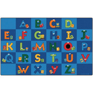 Carpets for Kids 6212 Reading Letters Library Rug 7 x 12