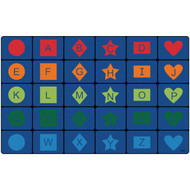 Carpets for Kids 3234 Simple Shapes Seating Rug 8 x 13