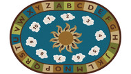 Carpets for Kids 94704 Sunny Day Learn and Play Rug Nature   4 x 6