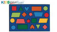 Carpets for Kids 36.76 Color Shapes Rug  3 x 4