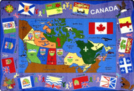 Joy Carpets 1455-C Flags of Canada Rug 5ft 4in x 7ft 8in