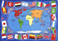 Joy Carpets 1444-D Flags of the World Rug 7ft 8in x 10ft 9in