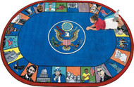 Joy Carpets 1450-CC Symbols of America 5ft 4in x 7ft 8in Oval