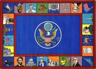 Joy Carpets 1450-D Symbols of America 7ft 8in x 10ft 9in