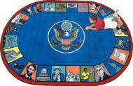 Joy Carpets 1450-DD Symbols of America 7ft 8in x 10ft 9in Oval