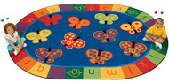 3507 Oval 123 ABC Butterfly Fun Rug 8 x 12