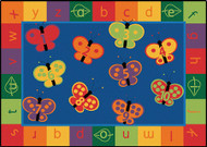 Carpets for Kids 3513 123 ABC Butterfly Fun Rug 3 x 5