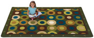Carpets for Kids 17724 Alphabet Calming Circles 4x6