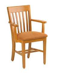 KI CrossRoads CRCHRAU18 Wood Chair with Arms Upholstered Seat