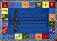 Joy Carpets 1462-D-02 Note Worthy Rug 7ft 8in 10ft 9in Preschool Version