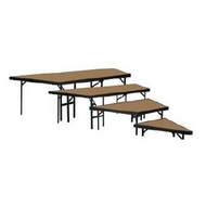National Public Seating Portable Four Level Stage Pie Set with Hardboard Deck