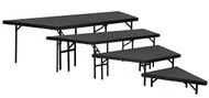 National Public Seating Portable 48 inch Three Level Stage Pie Set with Carpet