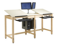 Shain CDTC-73 Two Student Deluxe Drawing Table