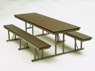 Barricks NB-6-30-P 30 x 72 Rectangular Cafeteria Table