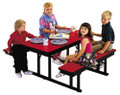 Barricks CNB-2460 24 x 60 Childrens Rectangular Cafeteria Table