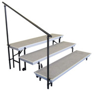 National Public Seating SGRTP3 Side Guard Rail for 3 Level TransPort Riser