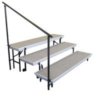 National Public Seating SGRTP4 Side Guard Rail for 4 Level TransPort Riser