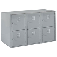 Shain LB-6 Locker Base with Six Vertical Lockers
