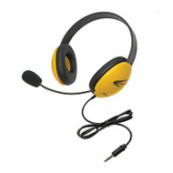 Califone 2800YLT Listening First Stereo Headphones with To Go Plug
