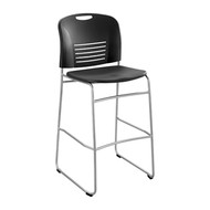 Safco 4295 VY Sled Base Bistro Chair - Black