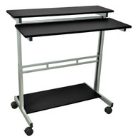 Luxor STANDUP-40 40inch Wide Stand Up Desk- Black