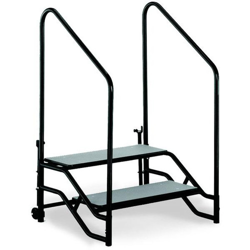 Portable Steps With Railing : St portable step unit two steps with hand rails l