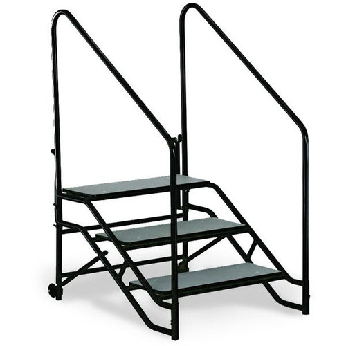 Portable Steps With Railing : St portable step unit three steps with hand rails l