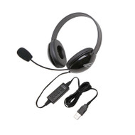 Califone 2800BK-USB Listening First Stereo Headsets with USB Plug
