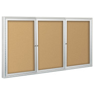 Balt 94PSH-I Indoor Enclosed Bulletin Board Cabinet 48H x 96W