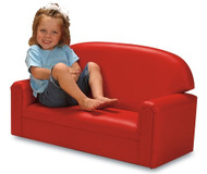 Brand New World FIVR100 Vinyl Infant Toddler Red Sofa